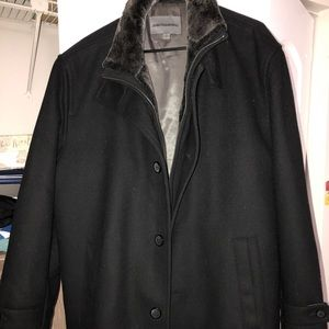 Johnston and Murphy wool lined coat